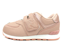 New Balance sneaker rose gold